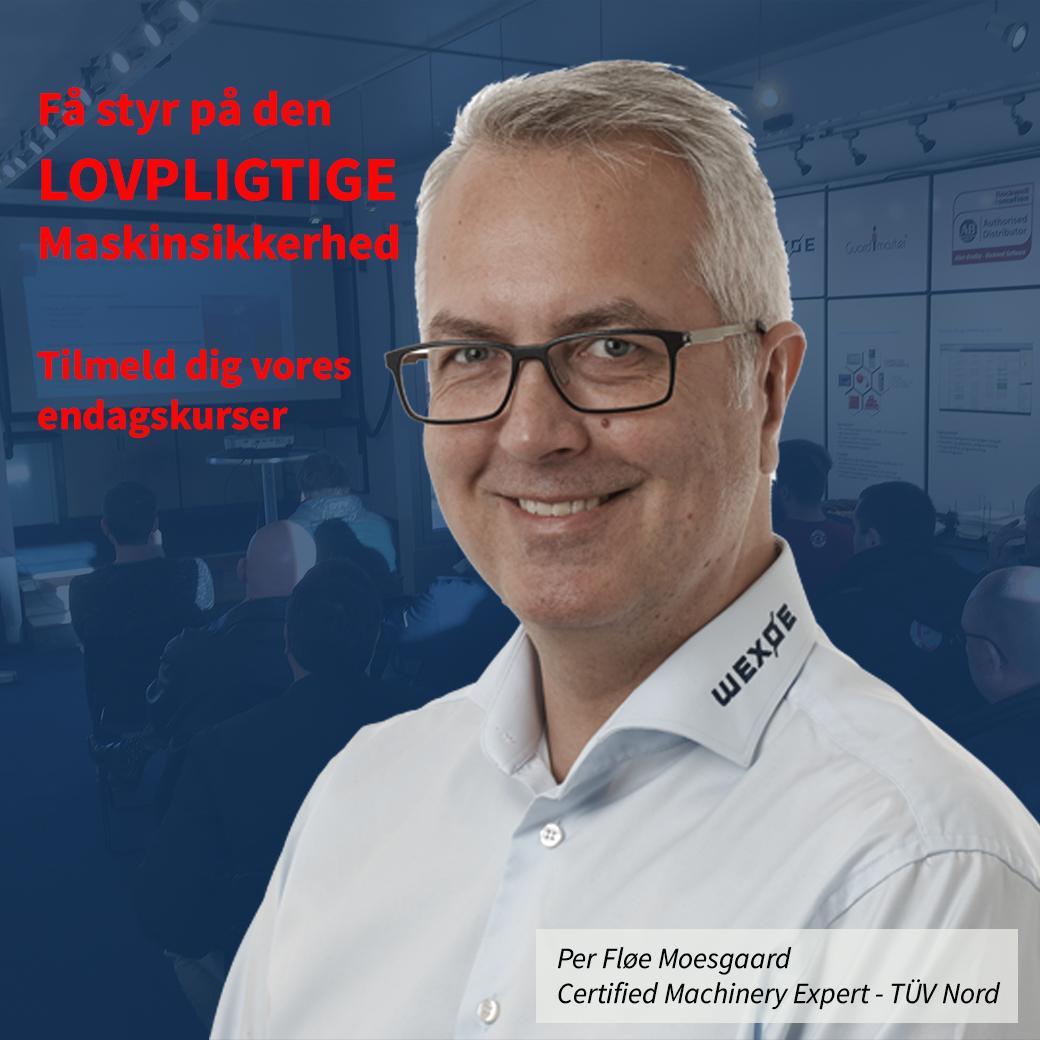 Per Fløe Moesgaard, ekspert i maskinsikkerhed