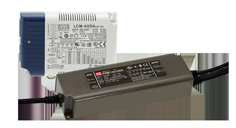 LCM-DA2 og PWM-DA2 LED drivere fra MEAN WELL. Forhandler er Power Technic. Ring 70 208 210