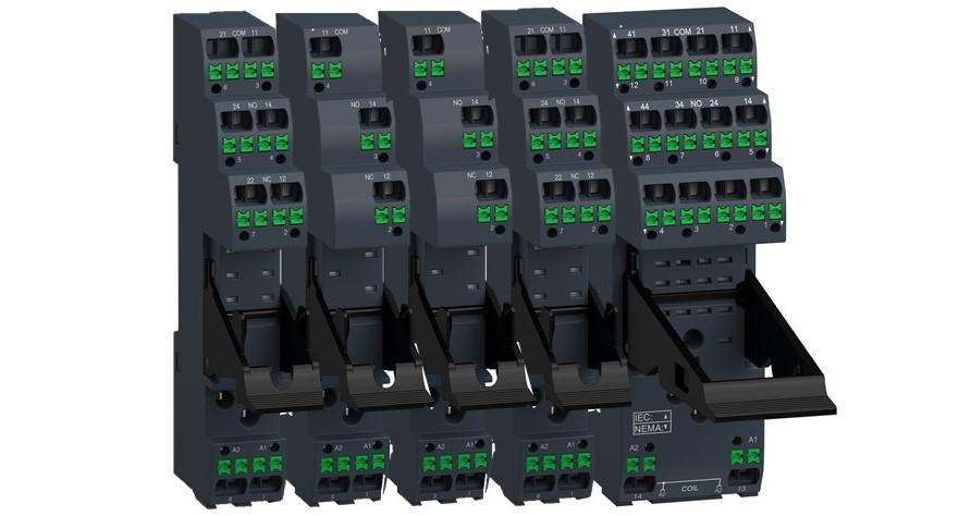 Nye rælesokler med push-in terminaler